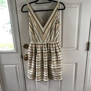 Gold J. Crew dress with pockets!